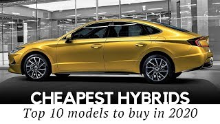 Gambar cover 10 Cheapest Hybrid Cars Enhanced by Electric Motors for Better MPG in 2020