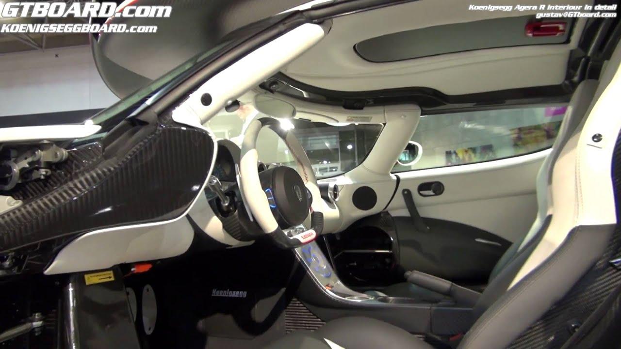 Koenigsegg One Interior >> Koenigsegg Agera R interiour in detail - YouTube