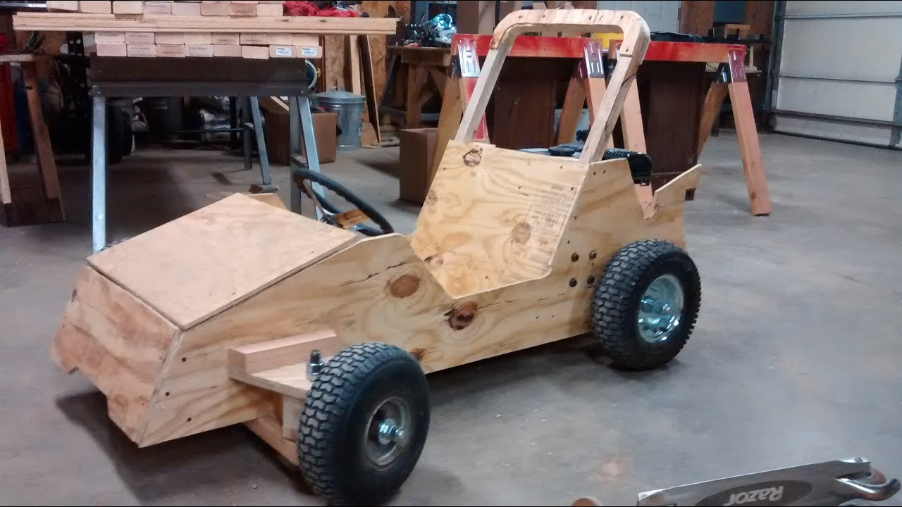 Wood Go Kart Winter Build Status: Go Kart Guru Vlog ...