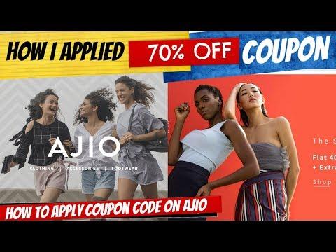 HOW I APPLIED 70% OFF COUPON ON AJIO | Sana K