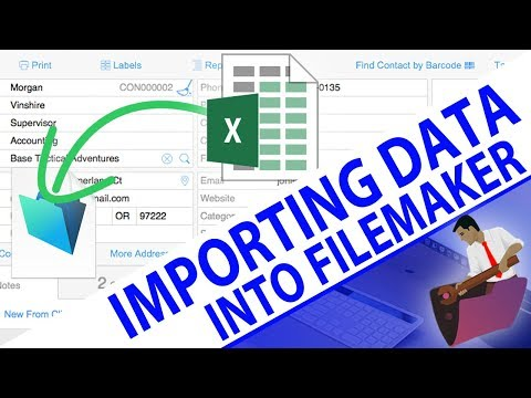 How to Import Data into FileMaker-FileMaker Pro Videos-FileMaker Training-FileMaker Data Import