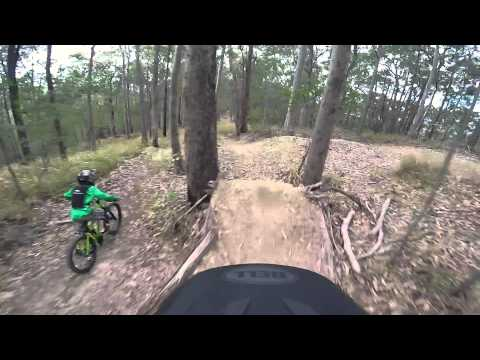 Norco Flow Downhill MTB Track Nerang - K Dog & Dad from the top