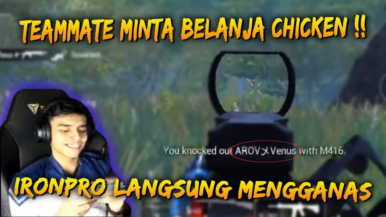 Di Bagi Cabaran Untuk Kasih chicken !! IronPro Not Problem | IronPro Game Play | PUBG Mobile