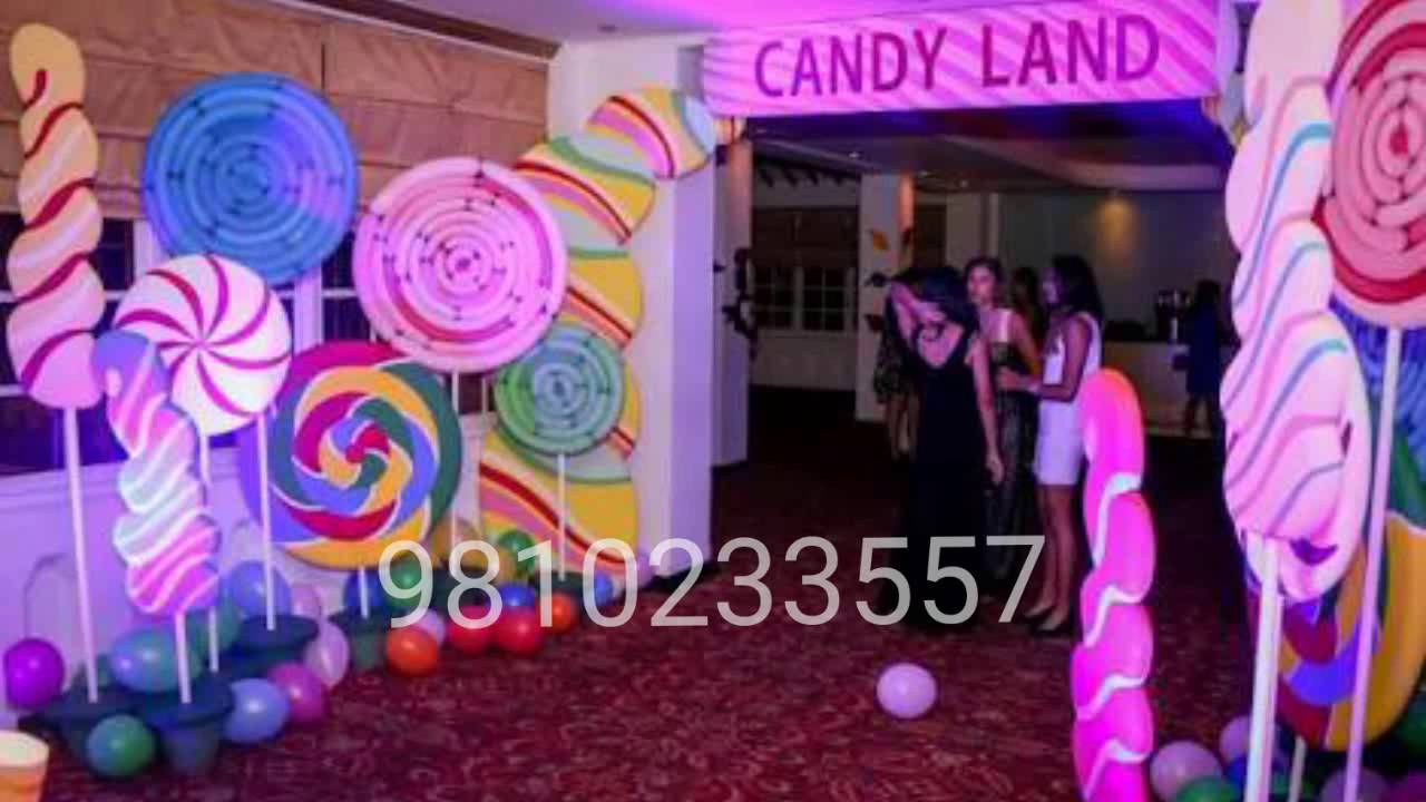 candyland theme birthday party www wowtheparty hissar gurgram
