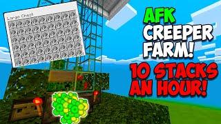 Minecraft PS4 Bedrock - How To Make A Creeper / Gunpowder Farm! (PS4,Xbox,Switch,PC,MCPE)