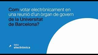 Com votar electrònicament en una reunió d'un òrgan de govern de la UB?