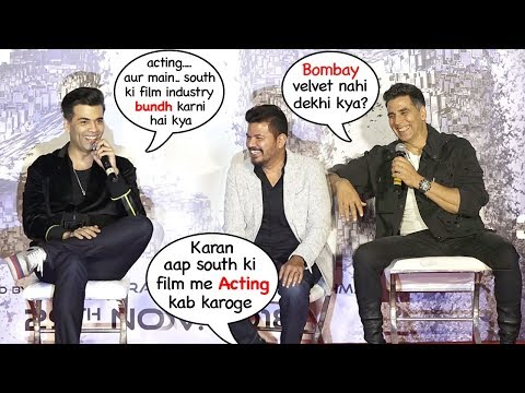 Karan Johar's FUNNY Reaction on Acting in South Indian Films Bahubaali & Robot 2.0