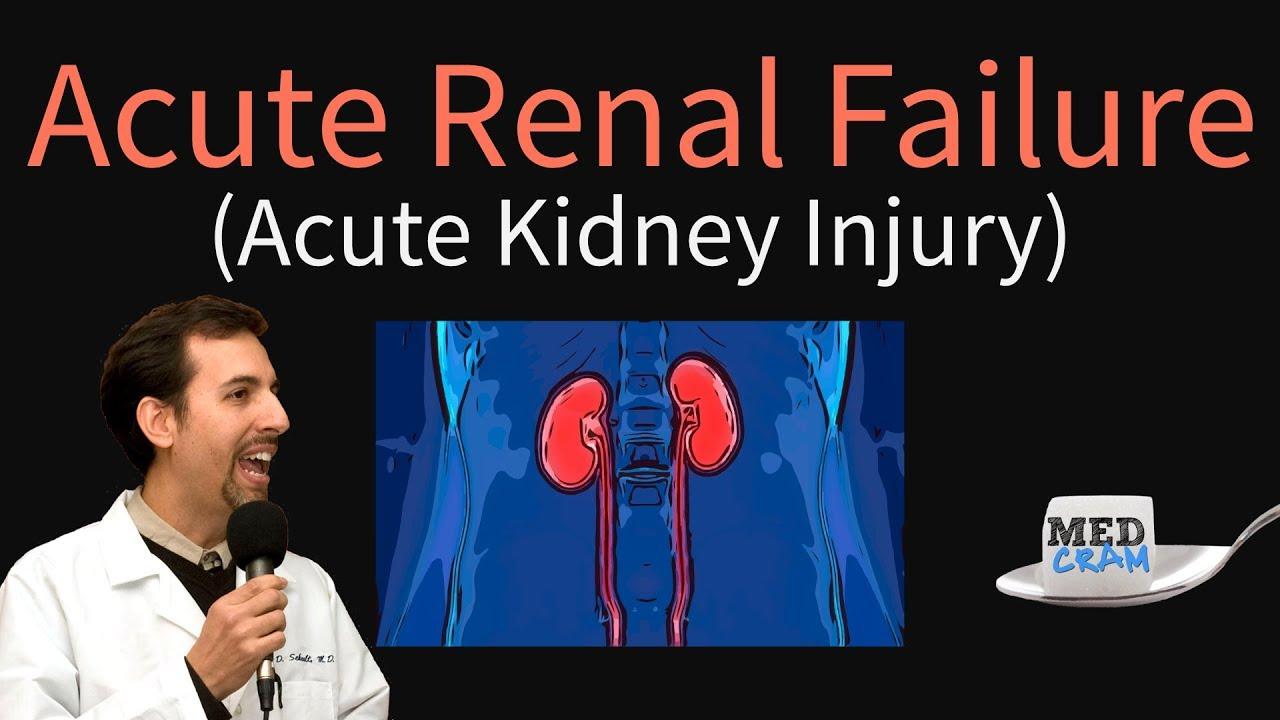 Acute Kidney Injury Acute Renal Failure Explained Clearly Bun Creatinine Ratio Youtube