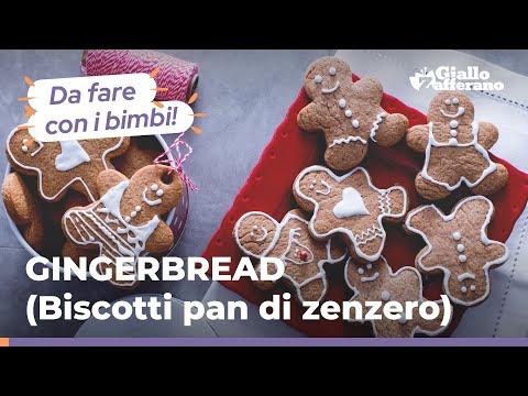 Dolce Di Natale Giallo Zafferano.Dolci Di Natale Biscotti Di Pan Di Zenzero Gingerbread Youtube