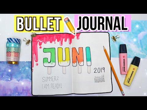 BULLET JOURNAL JUNI FÜR ANFÄNGER 📒  BUJO Juni 2019 Deutsch