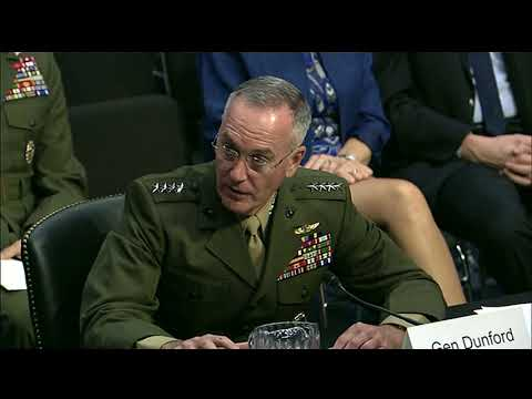 Dunford Testifies at SASC for Reappointment, Part 2