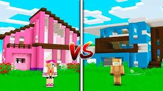 Minecraft NOOB VS PRO: GIRL HOUSE vs BOY HOUSE in MINECRAFT!