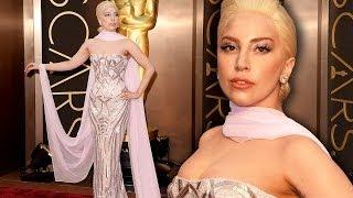 Lady Gaga on the Red Carpet Oscars 2014