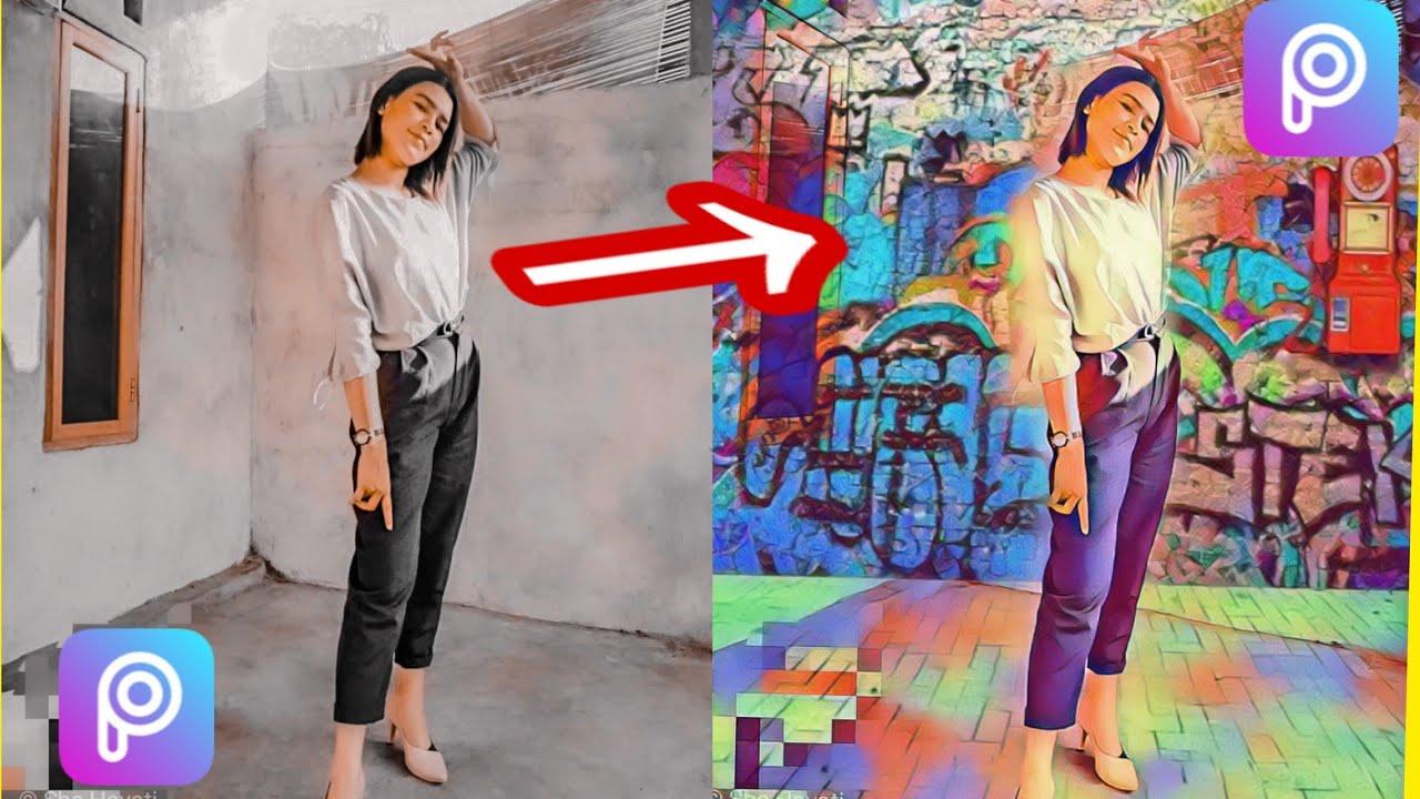 Cara edit foto 3D|efek magic|picsart editing#cara edit ...