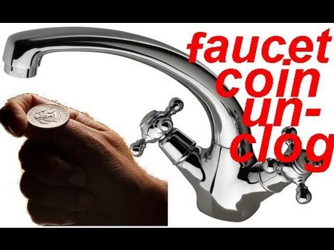 Cleanse faucet with a coin