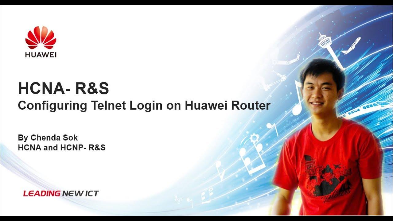 Configuring Telnet Login on Huawei Router