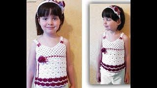 Летняя Кофточка Крючком для Девочки - 2019/ Summer Blouse Crochet for Girl/ Sommerbluse für Mädchen
