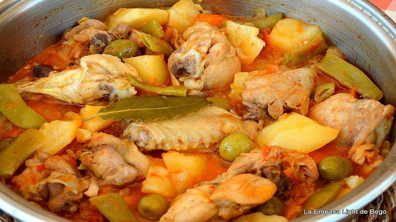 Pollo Guisado Con Aceitunas Youtube