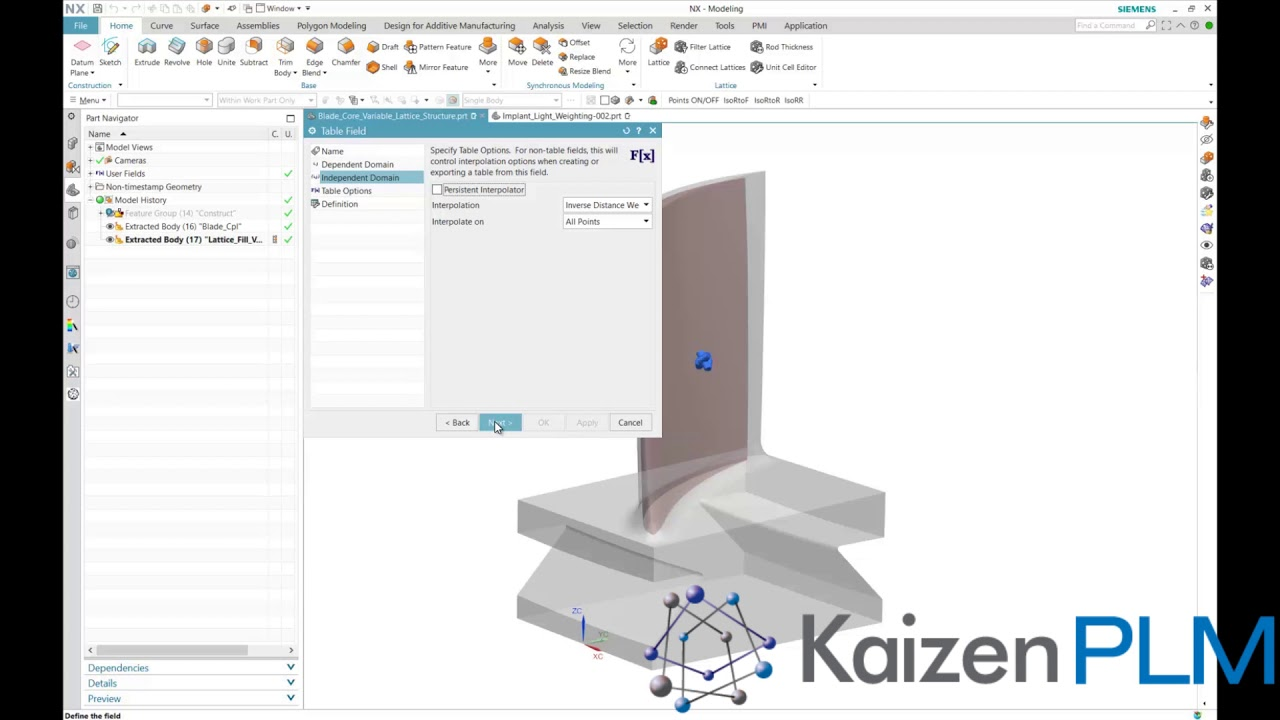 Kaizen PLM   Variable Lattice   Additive Manufacturing