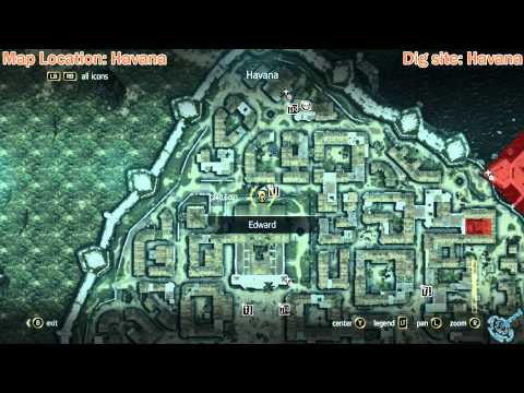 Assassin S Creed 4 Black Flag Buried Chests Locations Youtube