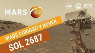 Mars 360: NASA's Mars Curiosity Rover -  Sol 2687 (360video 8K)