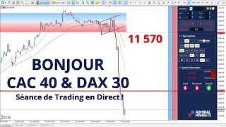 #DAX30 CFD - Séance de Trading en Direct - Bonjour CAC40 & DAX30 le 12/11
