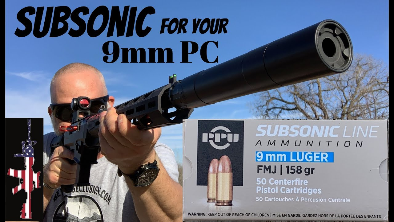 Subsonic For Your 9mm PC (that works) - PPU 9mm 158 gr Subsonic