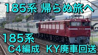 【185系廃車回送】EF81に牽引される185系C4編成 KY廃車回送