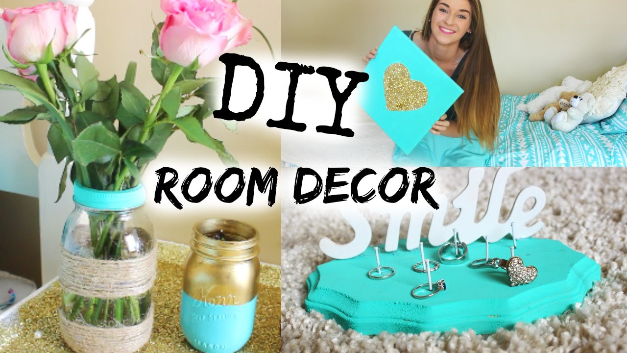Diy spring tumblr room decor youtube for Diy room decorations youtube