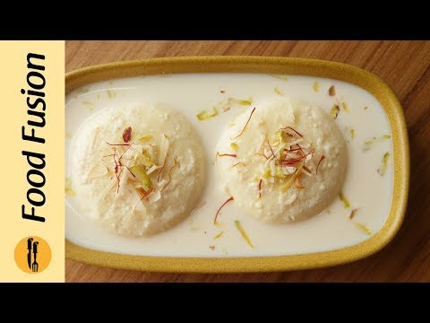 Rasmalai recipe with milk powder By Food Fusion