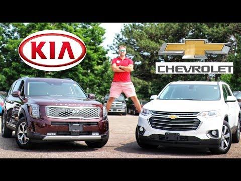 New Kia Telluride vs Chevrolet Traverse | 3 Row Seater Battle | Full Comparison