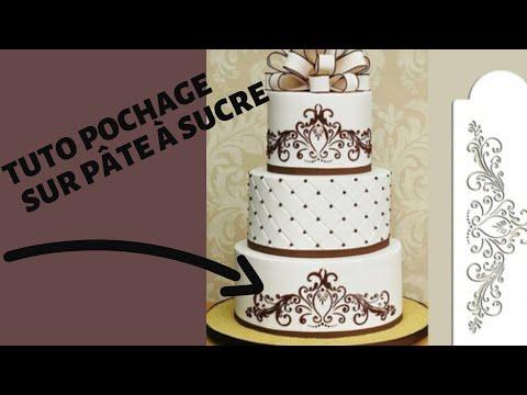 comment-dessiner-au-glaÇage-royal-sur-pÂte-a-sucre-🤔!!!!