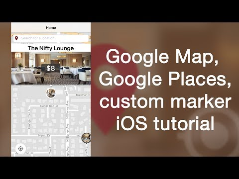Google Map, Google Places, custom marker tutorial for iOS in