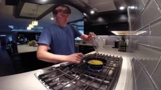 Irish Breakfast: Bacon, eggs, and potatoes
