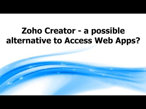 Zoho Creator - a possible alternative to Access Web Apps?