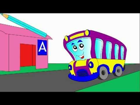 Мультик - Раскраска для малышей. Раскрашиваем автобус ...