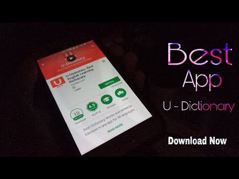 ( Hindi ) Best U - Dictionary App / Aap kaise use kar sakte ho - Download  Now