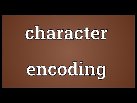 Character encoding Meaning