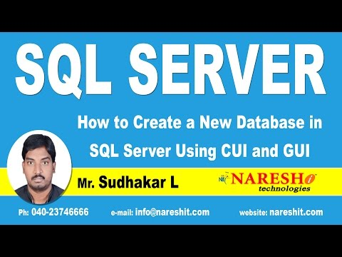 How to Create a New Database in SQL Server Using CUI and GUI | MSSQL Training