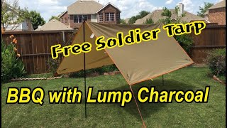 Free Soldier Tarp Setup   BBQ …
