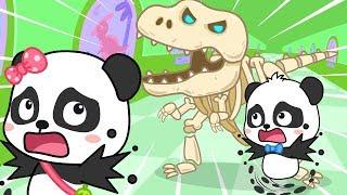 Bayi Panda Mengunjungi Museum Dinosaurus | Lagu An