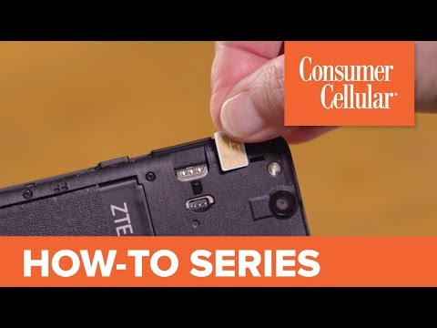 ZTE Avid 557: Inserting the SIM Card, SD Card and Battery (8 of 8) | Consumer Cellular