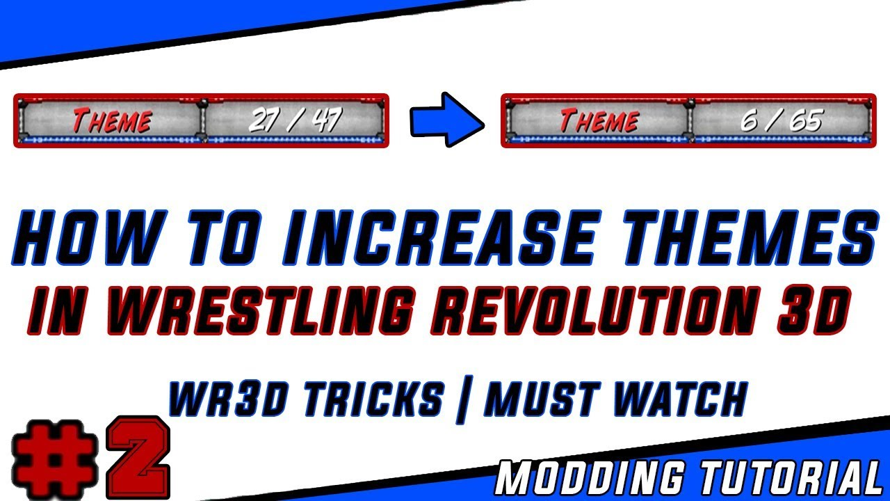 How to Increase Themes In Wrestling Revolution 3D | Wr3d Modding Tutorial &  Tricks | Must Watch 👍
