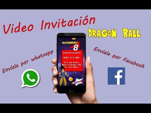 Video Invitación animada Dragon Ball
