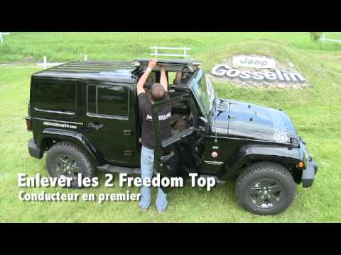 Manipulation Du Toit Rigide Et Freedom Top Jeep Wrangler