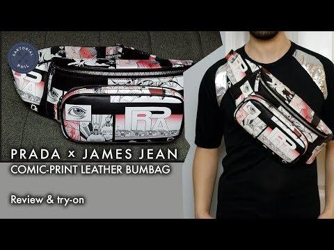 Wholesale Price Cheap Online Prada Comic print belt bag Limited Edition For Sale 2IwUZT