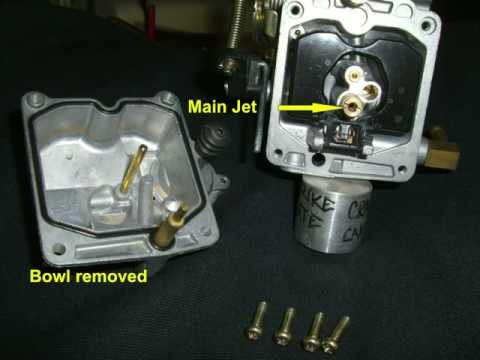 Harley Davidson CV Carburetor Main Jet replacement