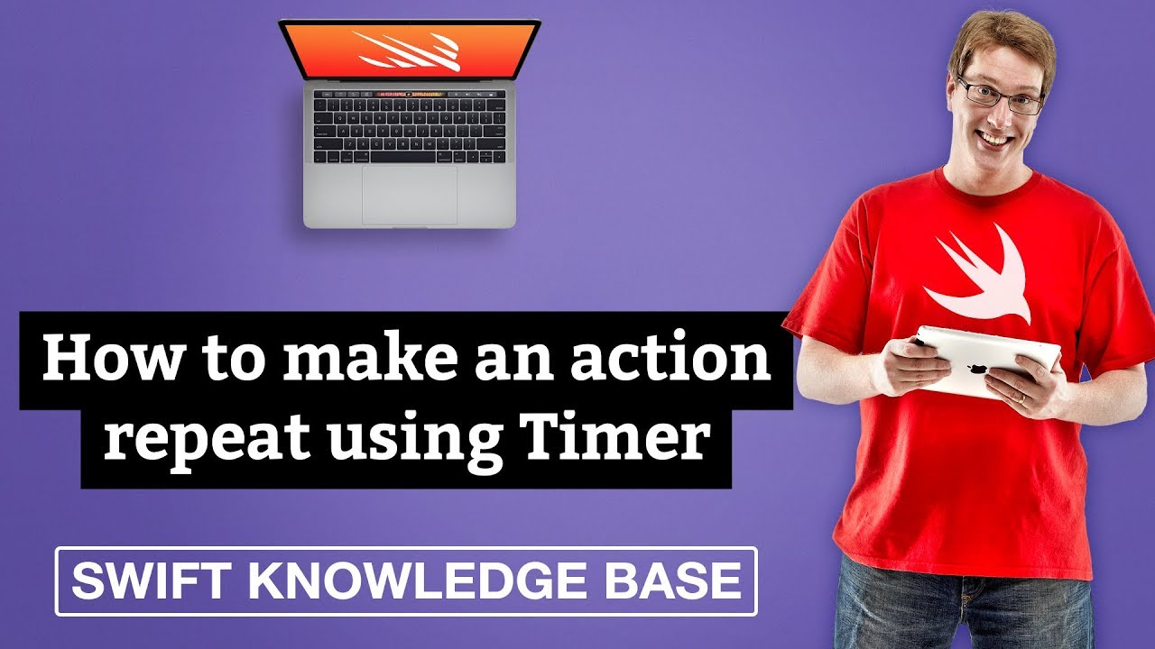 How to make an action repeat using Timer - free Swift 5 0 example