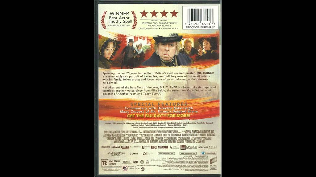 Critique Blu-ray Mr. Turner