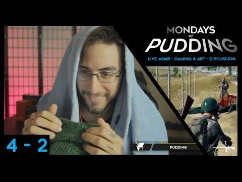 Live ASMR, Head Scratching, Donation Kisses & PUBG- Mondays w/ Pudding - Week 4.2